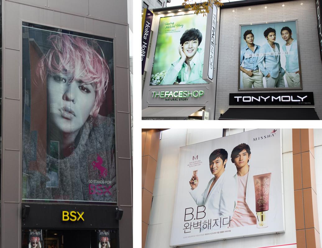 GD pour BSX, Kim Hyun Joong pour The Face Shop, JYJ pour Tony Moly et TVXQ pour Missha!